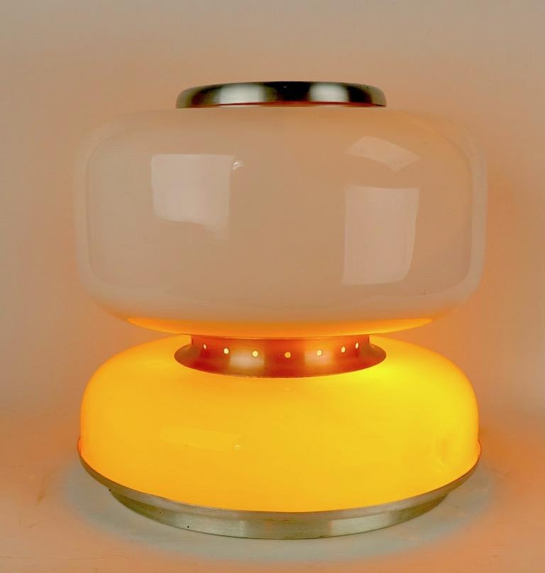 Mod Murano Glass Table Lamp Attributed to Carlo Nason for Mazzega For Sale 1
