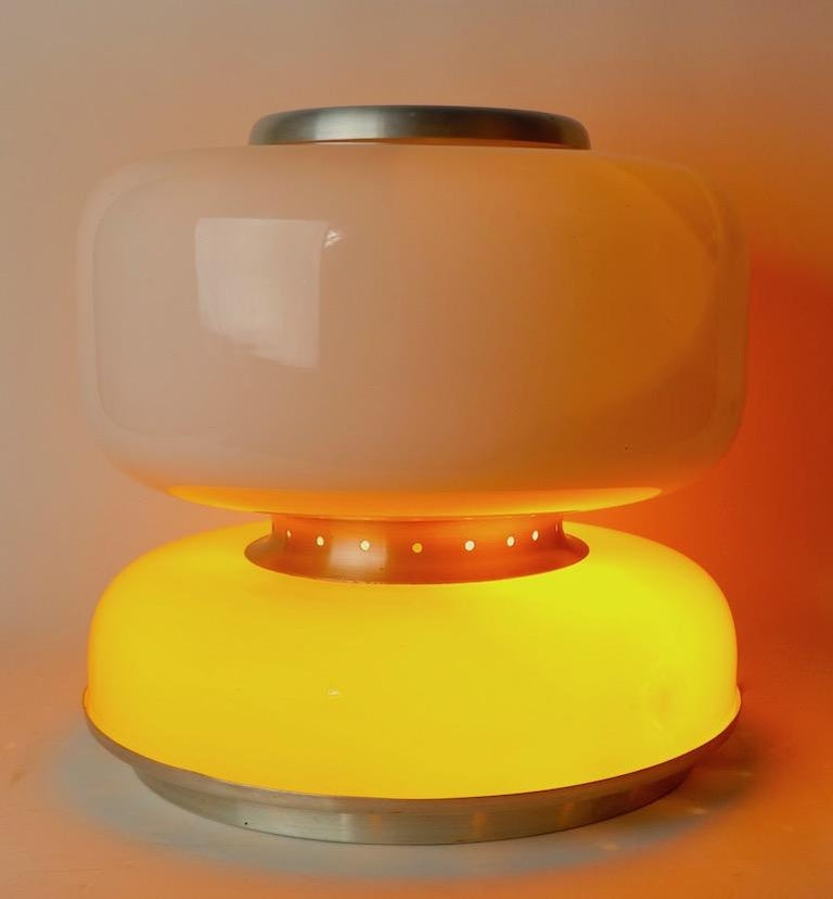 Mod Murano Glass Table Lamp Attributed to Carlo Nason for Mazzega For Sale 2