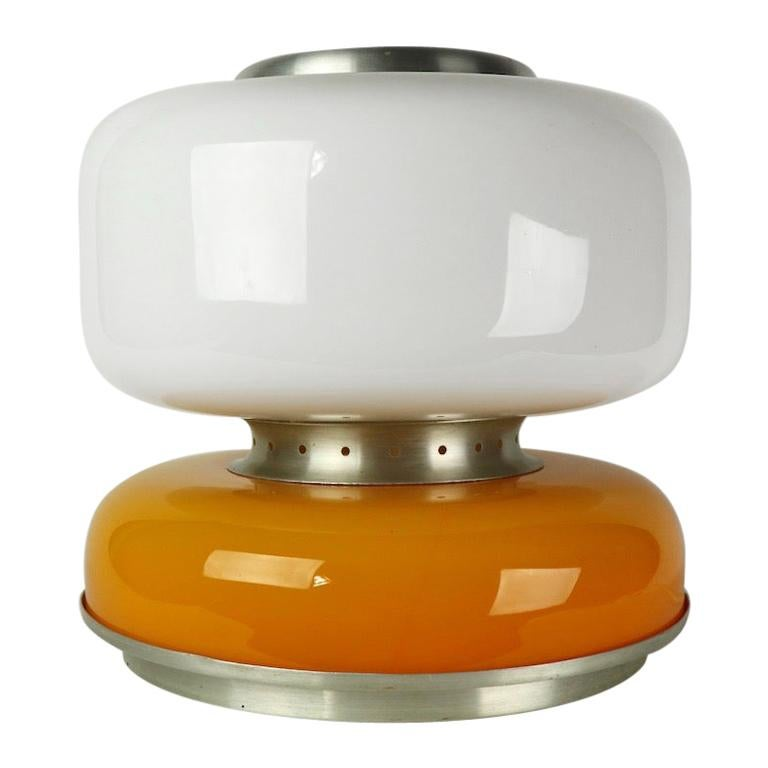 Mod Murano Glass Table Lamp Attributed to Carlo Nason for Mazzega For Sale