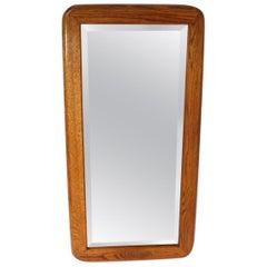 Mod Oak Frame Bevelled Plate Glass Mirror