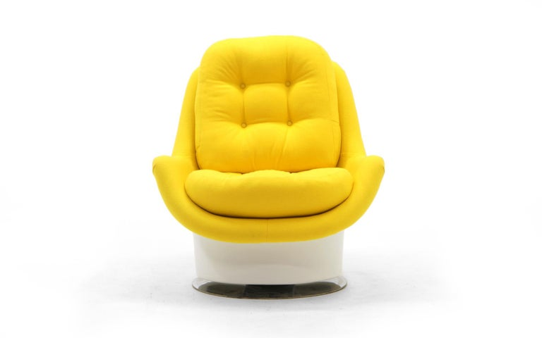 Mod Swivel Tilt Lounge Chair Milo Baughman White With