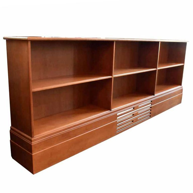 Mod Walnut Bookcase For Sale