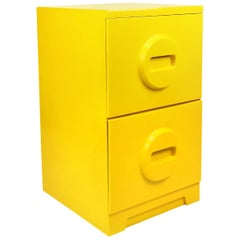 Yellow Architectural Drafting Flat File Cabinet Restored