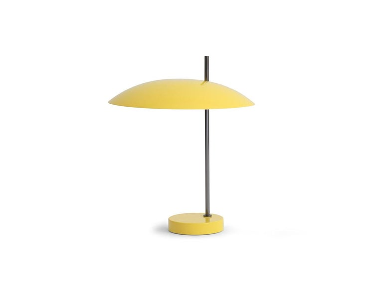 Model '1013' Table / Desk Lamp by Pierre Disderot 'Black/Red/White/Yellow' For Sale 1