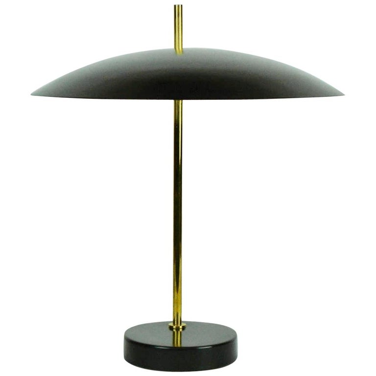 Model '1013' Table / Desk Lamp by Pierre Disderot 'Black/Red/White/Yellow' For Sale