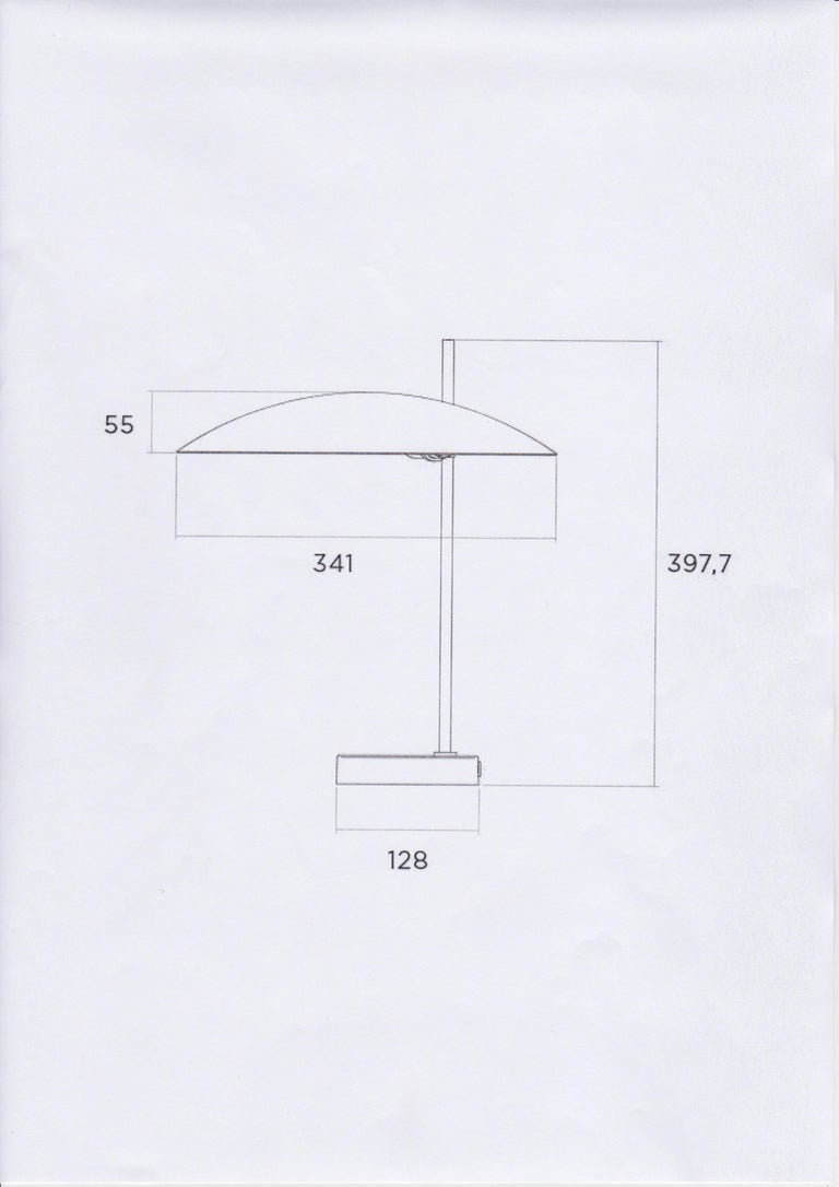 Model '1013' Table / Desk Lamp by Pierre Disderot 'Red/White/Yellow/Black' 2 For Sale 3