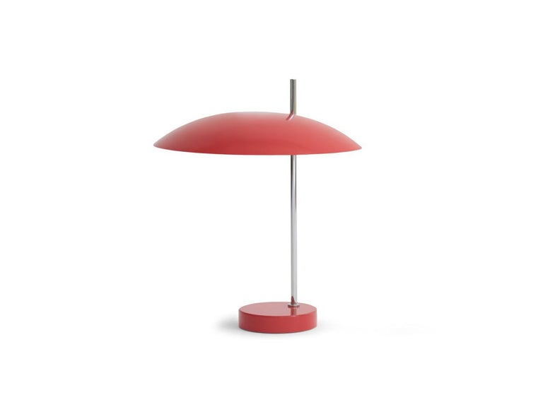This lighting fixture was originally conceived as a desk lamp, with its' ideal height and even lighting to avoid eye fatigue. Its' elegant design and size made it an iconic object to place anywhere: In the bedroom, on furniture in the sitting room,