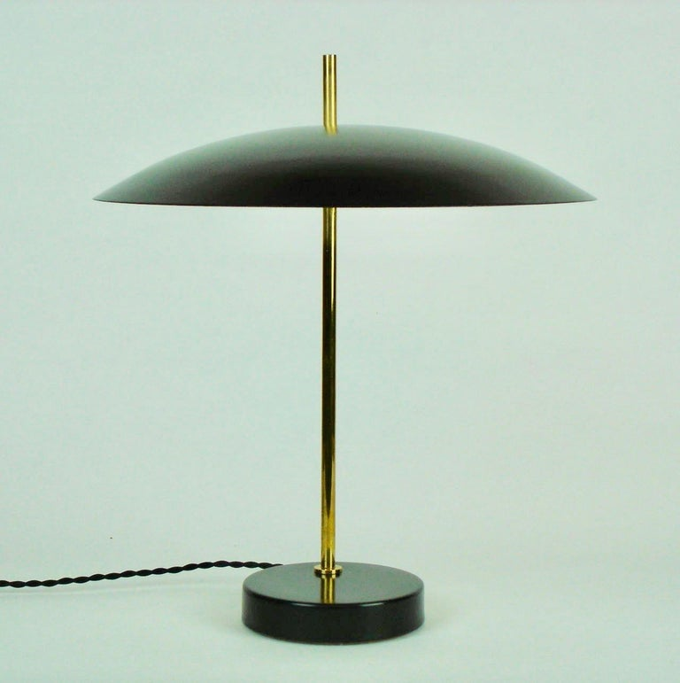 Lacquered Model '1013' Table / Desk Lamp by Pierre Disderot 'White/Yellow/Black/Red' 2 For Sale