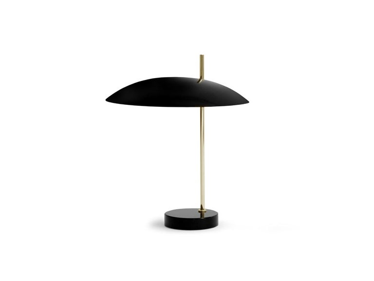 Brass Model '1013' Table / Desk Lamp by Pierre Disderot Yellow/Black/Red/White' 2 For Sale
