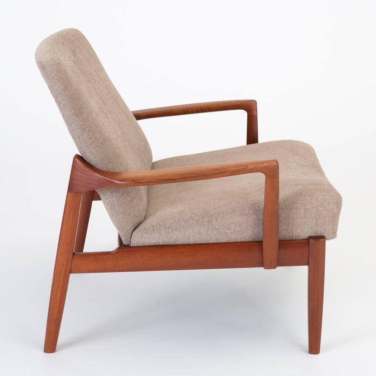 Teak Model 125 Lounge Chair by Tove & Edvard Kindt-Larsen for France & Son For Sale