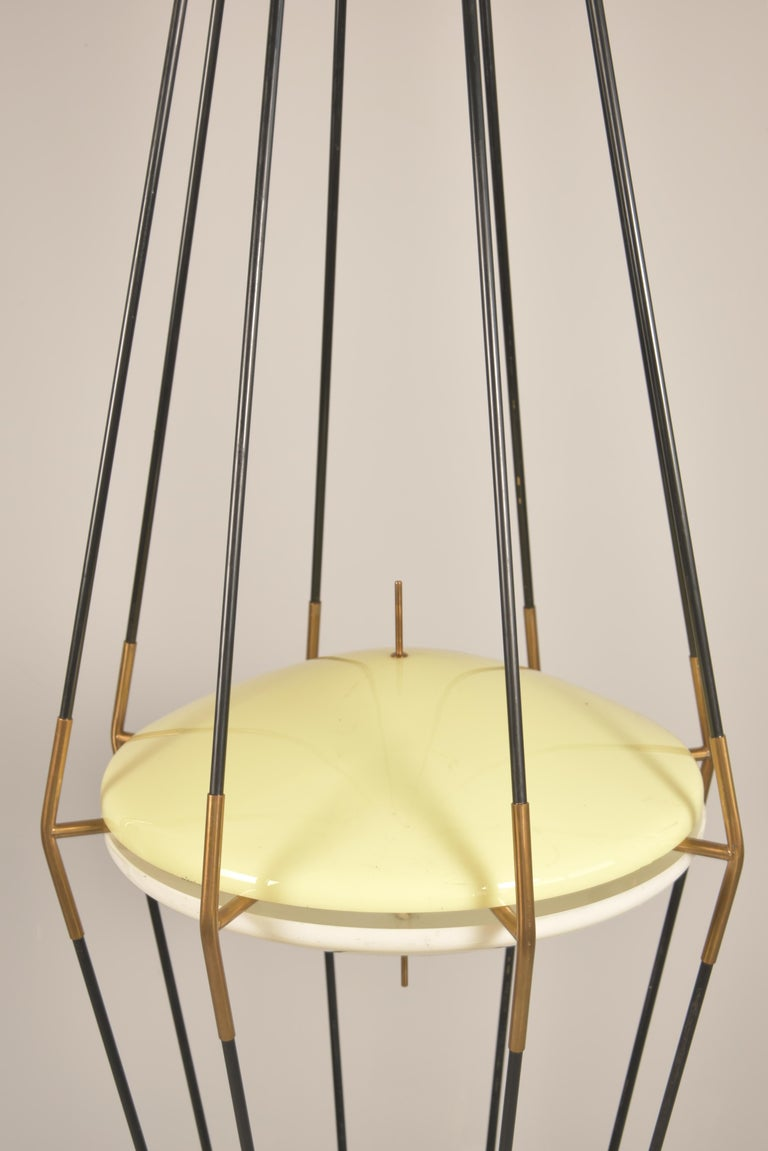 Model 12628 'Siluro' Floor Lamp by Angelo Lelli for Arredoluce, Italy, 1957 For Sale 4