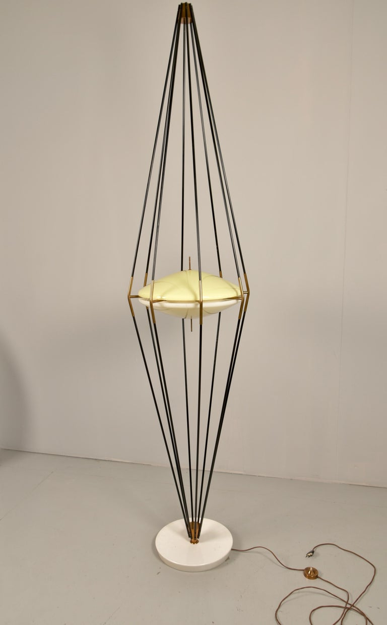 Mid-Century Modern Model 12628 'Siluro' Floor Lamp by Angelo Lelli for Arredoluce, Italy, 1957 For Sale