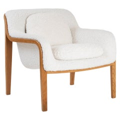 Model 1315 Bentwood Lounge Chair in Faux Lambswool by Bill Stephens for Knoll