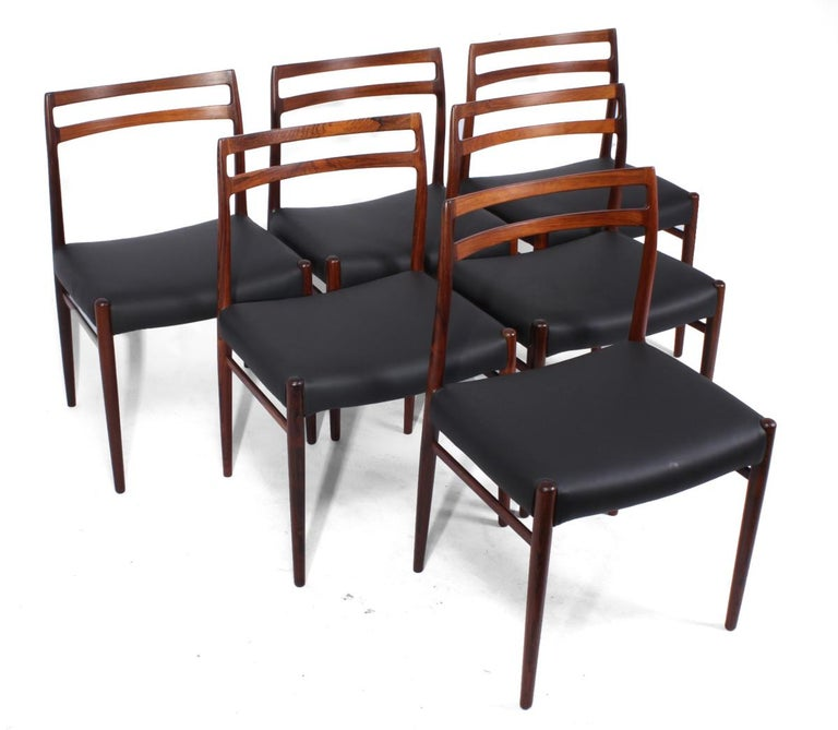 Norwegian Model 146 Rosewood Dining Chairs by Alf Aarseth For Sale
