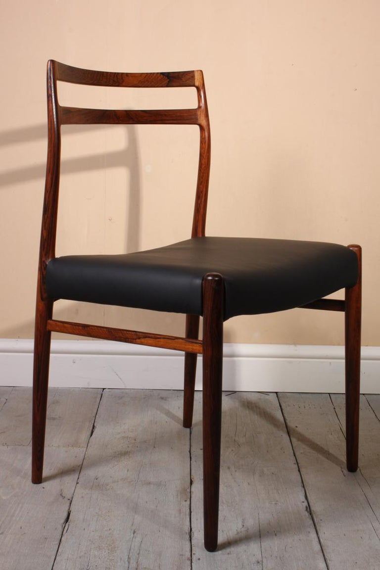 Model 146 Rosewood Dining Chairs by Alf Aarseth In Excellent Condition For Sale In Paddock Wood, Kent