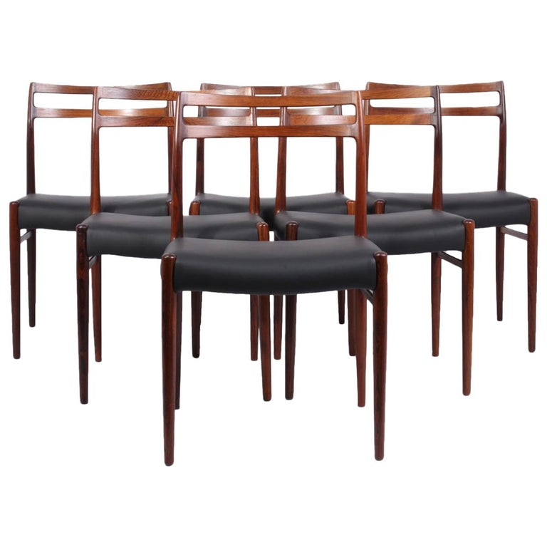 Model 146 Rosewood Dining Chairs by Alf Aarseth For Sale