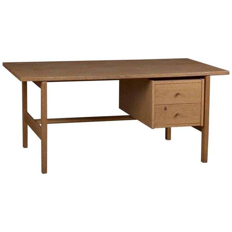Model 156 Oak Desk by Hans Wegner for GETAMA