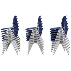 Model 1601 Stackable Chair by Don Albinson for Knoll International, Set of 18