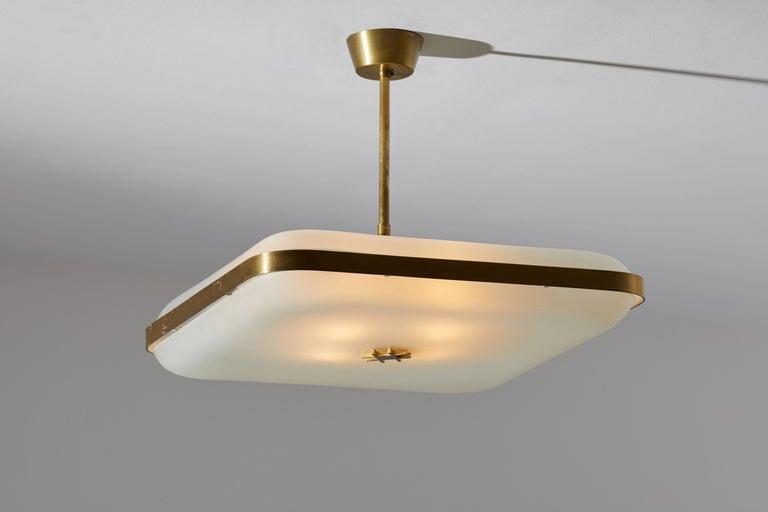 Mid-Century Modern Model 2022 Flush Mount Ceiling Light by Max Ingrand for Fontana Arte