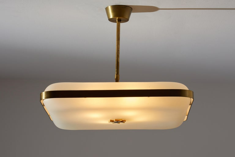 Mid-20th Century Model 2022 Flush Mount Ceiling Light by Max Ingrand for Fontana Arte