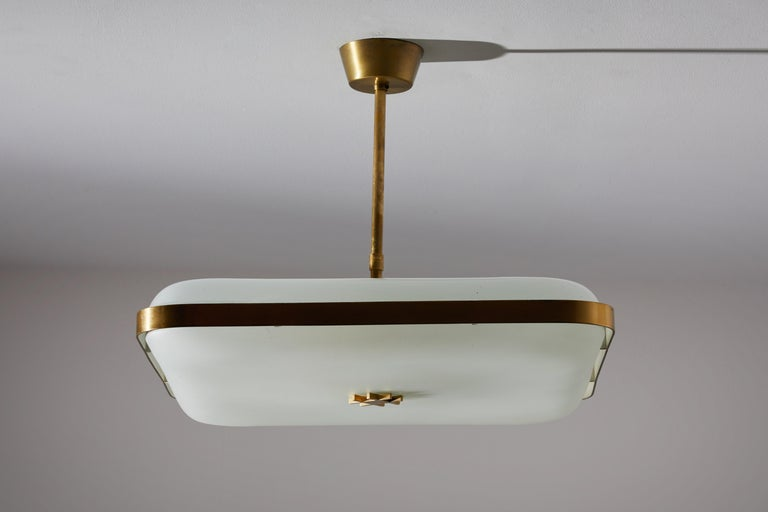 Brass Model 2022 Flush Mount Ceiling Light by Max Ingrand for Fontana Arte