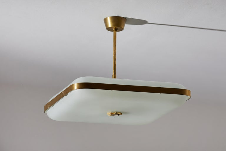 Model 2022 Flush Mount Ceiling Light by Max Ingrand for Fontana Arte 1