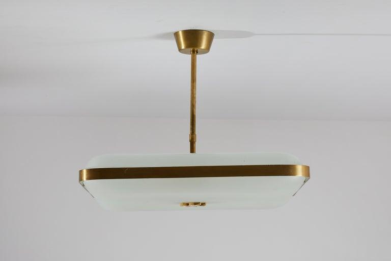Model 2022 Flush Mount Ceiling Light by Max Ingrand for Fontana Arte 2