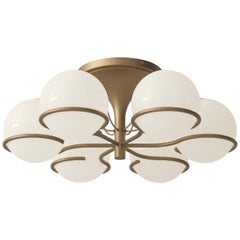 Model 2042/6 Flush Mount Ceiling Light by Gino Sarfatti