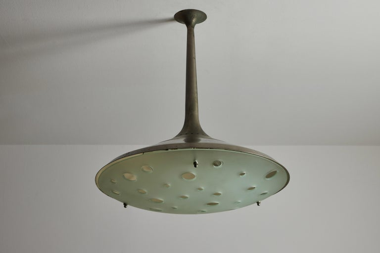 Model 2054 Ceiling Light by Max Ingrand for Fontana Arte For Sale 2