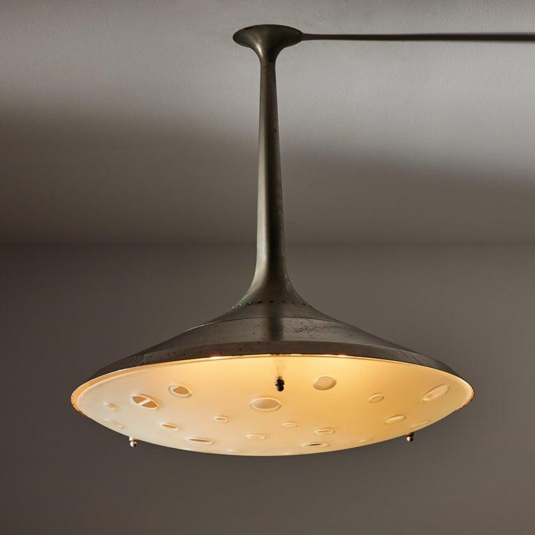 Mid-Century Modern Model 2054 Ceiling Light by Max Ingrand for Fontana Arte For Sale