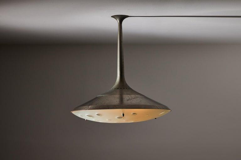 Italian Model 2054 Ceiling Light by Max Ingrand for Fontana Arte For Sale