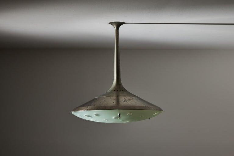 Brass Model 2054 Ceiling Light by Max Ingrand for Fontana Arte For Sale