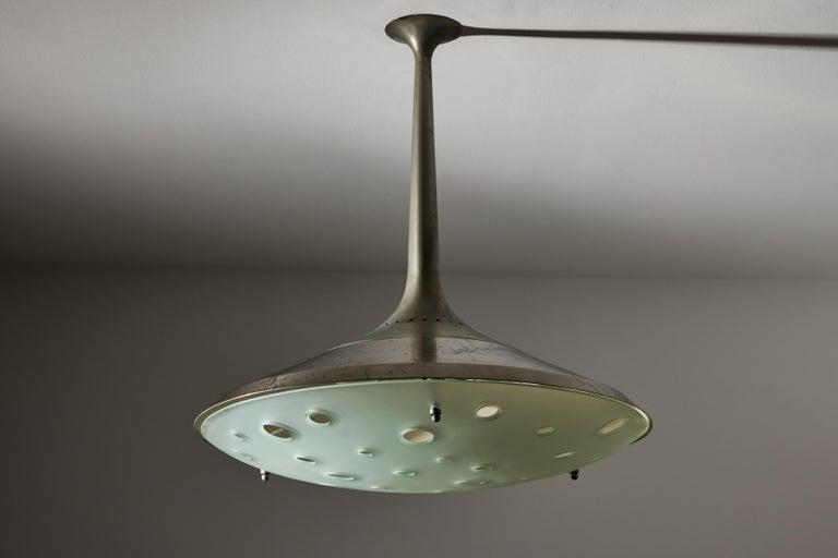 Model 2054 Ceiling Light by Max Ingrand for Fontana Arte For Sale 1