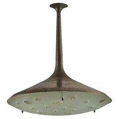 Model 2054 Ceiling Light by Max Ingrand for Fontana Arte