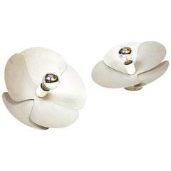 Model 2093-A Olivier Mourgue Pair of 'Flower' Wall / Applique / Sconce Lights