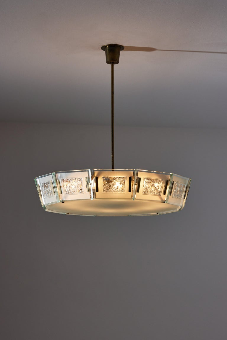 Mid-Century Modern Model 2270 Ceiling Light by Max Ingrand For Sale