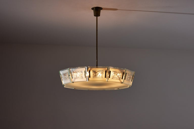 Italian Model 2270 Ceiling Light by Max Ingrand For Sale