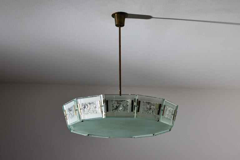 Model 2270 Ceiling Light by Max Ingrand For Sale 1
