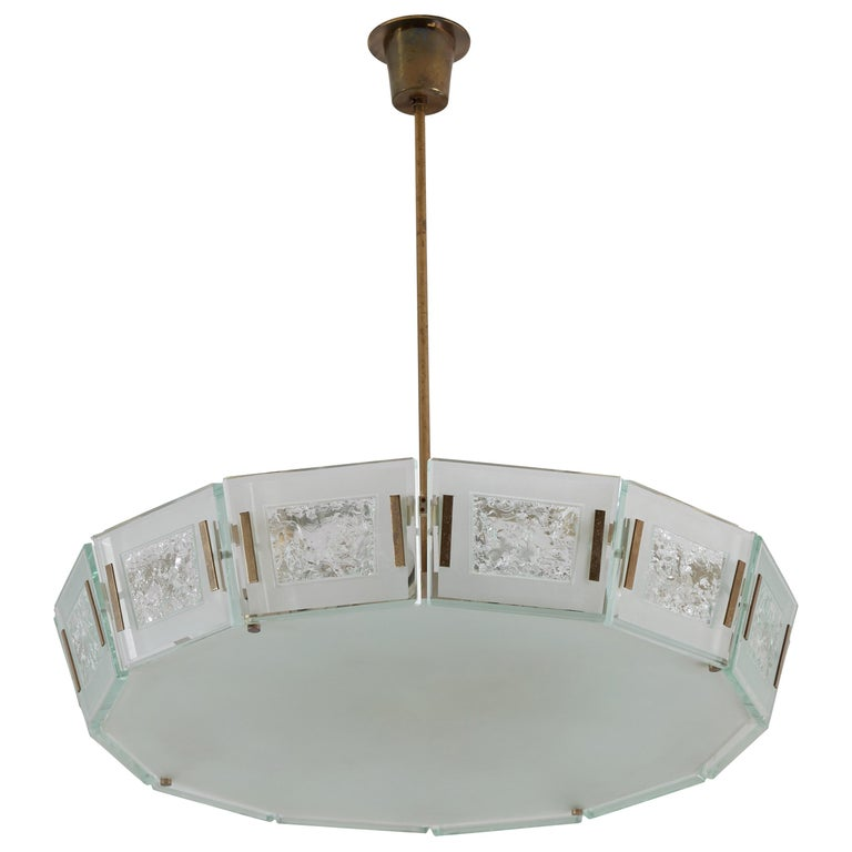 Model 2270 Ceiling Light by Max Ingrand For Sale