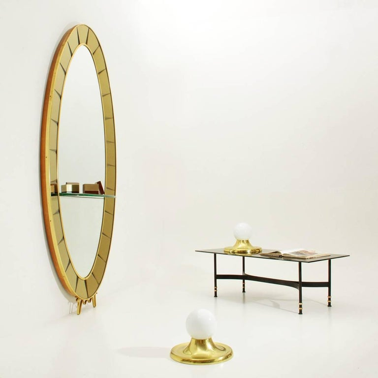Model 2690 Italian Mirror Console by Cristal Art, 1950s For Sale 4