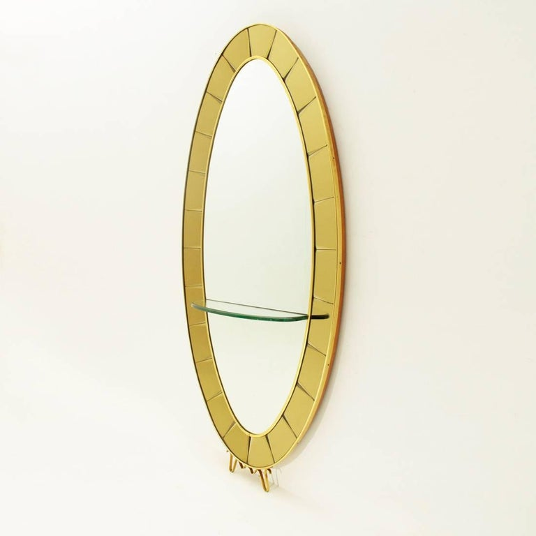 Mid-Century Modern Model 2690 Italian Mirror Console by Cristal Art, 1950s For Sale