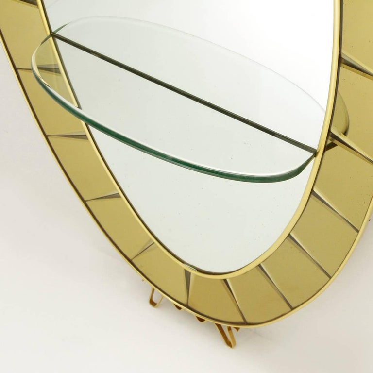 Model 2690 Italian Mirror Console by Cristal Art, 1950s For Sale 1