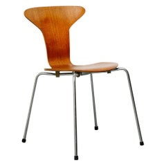 Model 3105 'Mosquito' Teak Bentwood Side Chair by Arne Jacobsen