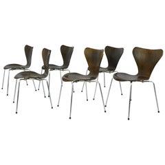 Model 3107 Chairs by Arne Jacobsen for Fritz Hansen, circa 1960s