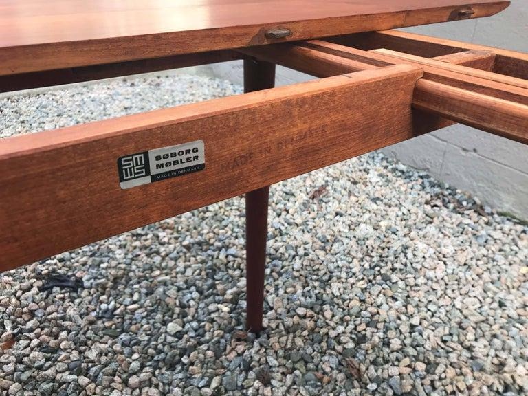 Mid-20th Century Model 311 Table by Peter Hvidt & Orla Mølgaard-Nielsen for Søborg Møbler For Sale