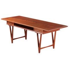 Model 32 V-legged Teak Coffee Table by E.W. Bach