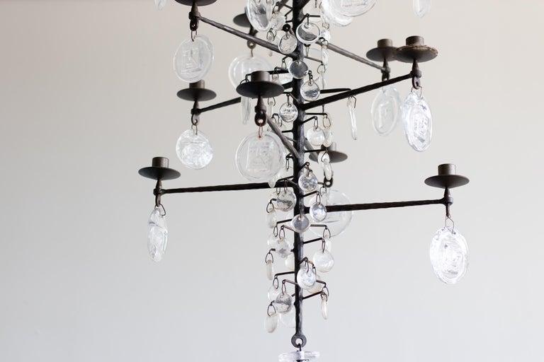 Glass Model 341 Candelabrum by Erik Hoglund For Sale