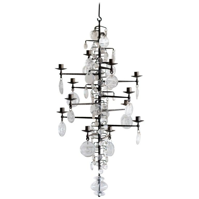 Model 341 Candelabrum by Erik Hoglund For Sale