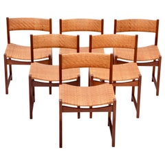 Danish Mid-Century Modern chairs by Hvidt & Mølgaard Nielsen in Teak and Cane