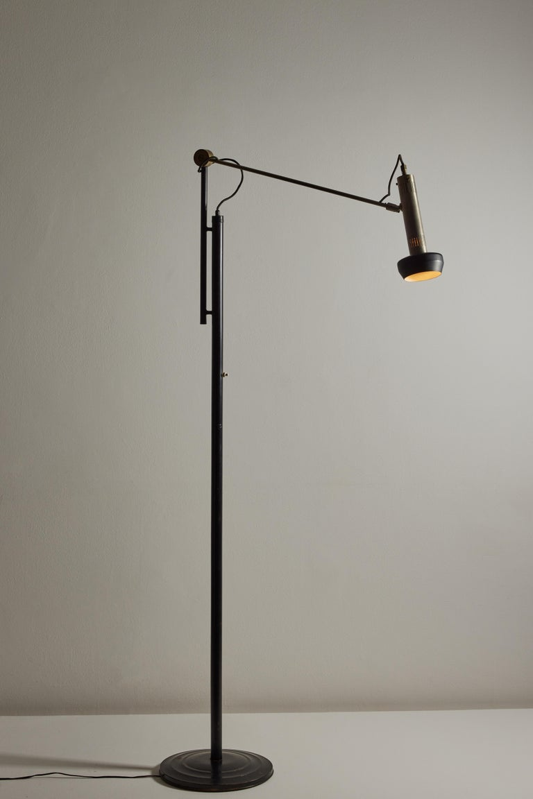 Mid-Century Modern Model 387 Floor Lamp by Tito Agnoli for Oluce For Sale